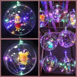 Clear Balls Australia - 200PCS Flashing Bobo Ball Flash Light Handle Christmas Elves Tree Ball Creative LED Light Colorful Cartoon Lanterns with Cartoon Figures