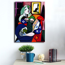 $enCountryForm.capitalKeyWord NZ - Pablo Picasso's Woman With Book HD Canvas Posters Prints Wall Art Painting Decorative Picture Modern Home Decoration Accessories