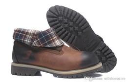 Новое прибытие древесины мужские ролл топ пешие прогулки сапоги люксовый бренд альпинизм обувь высокое качество работы сапоги с коробкой розетки