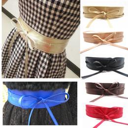 e278aab6166 Lace Up Pu Leather Designer Wide Corset Cummerbunds Strap Belts for Women  Girls High Waist Slimming Girdle Belt Ties Bow Bands