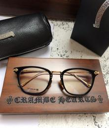 Clear Lense Eyeglasses Australia - luxury- SHAGASS glasses frame clear lense Pure titanium frame myopia eyeglasses Retro oculos de grau men and women myopia eyeglasses frames