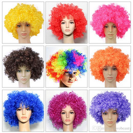 Festival wigs online shopping - VMAE kinky Curly Short Synthetic Hair Wig Colorful Party Hairstyle Christmas Festival Cosplay Wigs Accessories Headwear