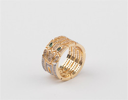 China Designer Fashion Wide Rings Full Diamond Hollow Snake Design Broad Ring Luxury Wedding Rings Gold Silver Rose Casual Ring Lover Gift suppliers