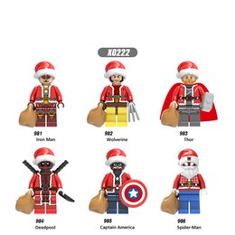 Building Figures Australia - Super Heroes Iron Man Wolverine Thor Deadpool Building Blocks Action Figures Toys Gifts Model for Children X0222