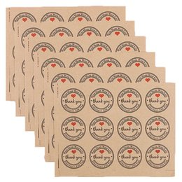 stamp paper sticker Australia - 120 Pcs 3.8CM Thank You Kraft Paper Sticker Labels for Wedding Party Favor Thank You Card, Stamp Sticker, DIY Gift P