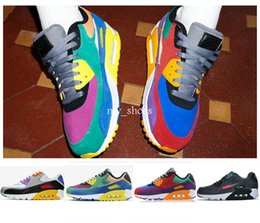 eva fishing shoe NZ - 90 QS Viotech Be True 2019 Womens Mens Running Shoes Sports Colorful Air Rainbow Trainers 90s Betrue Chaussures Designer Sneakers US12