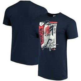 Player Block Australia - Dansby Swanson Brand Color Block Series Player Graphic T-Shirt - Navy