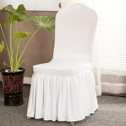 $enCountryForm.capitalKeyWord Australia - 50pcs lot Removable Stretch Spandex Polyester White Hotel Banquet Chair Cover For Wedding Ceremony Party Decoration