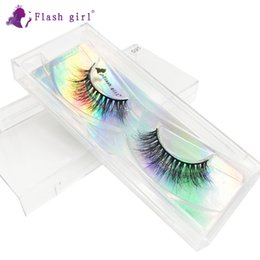 super c Canada - Wholesale Flash girl super quality D series D21 3D 100% handmade real mink lashes vendors private label