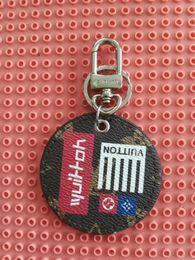 $enCountryForm.capitalKeyWord Australia - New Brand Keychain Keyring For Women Bag Car Key Chain Leather circular print design Keychains Trinket Jewelry Gift Souvenirs with box wke85