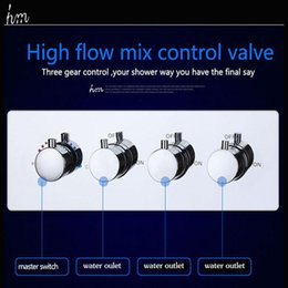 shower controller NZ - Contemporary High Pressure 4 Handle 3 Way Valve Multifunctional In Wall Bath Shower Faucet Hot Cold Mixing Water Controller 20180927#