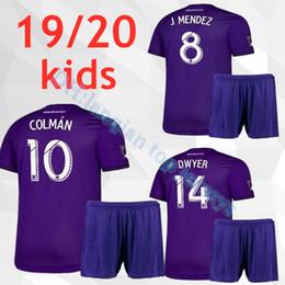ba7f9280113 new 19 20 MLS Orlando City soccer jersey kids kit KAKA HOME AWAY DWYER  COLMAN J. MENDEZ NANI MUELLER SPECTOR Orlando KIDS football uniform