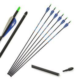 $enCountryForm.capitalKeyWord Australia - 12 pcs Pure Carbon Archery Arrows Natural Rubber Fletching Feather 100 Grain Broadheads Outdoor Hunting Archery Target Pratice OD7.6mm ID6.