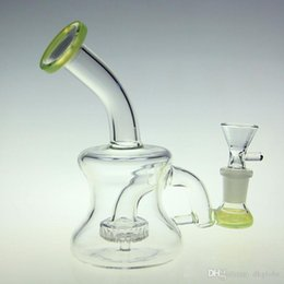 """$enCountryForm.capitalKeyWord Australia - New arrival green USA colored 5.8""""glass bong glass bubbler oil rigs water pipe barrel recycler with tyre perc 14.4mm joint"""