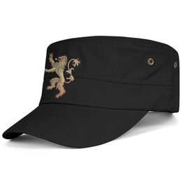 $enCountryForm.capitalKeyWord Australia - Womens Mens Flat-along Adjustable Game of Thrones House Lannister Hip Hop Cotton Ball Cap Golf Military Caps Airy Mesh Hats For Men Women