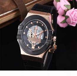 Wholesale secret car for sale – custom NEW Cool sports car racing watch High quality sapphire glass MASERATI watch Men s luxury watches Rose gold leather Automatic sport watc