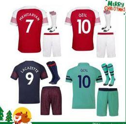 ad4168412 Thailand soccer jersey football shirt uniforms Adult kit 18 19 AUBAMEYANG  LACAZETTE MKHITARYAN WILSHERE 2018 2019 RAMSEY OZIL jerseys Suit