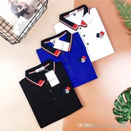 $enCountryForm.capitalKeyWord Australia - 19ss luxurious Brand Design MC color blocked Collar Polo Tee Shirt Men Women Breatheable Fashion Streetwear Outdoor T-shirts