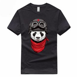 Cotton Neck Scarves Australia - Scarf panda Euro Size 100% Cotton T-shirt Summer Casual O-Neck Short sleeve Tshirt For Men And Women GMT099