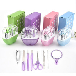 mini buffer blocks Australia - 8PCS NEW Manicure Set Nail Care Tools with Mini Finger Nail Cutter Sanding Files Buffer Block Pedicure Nail Set