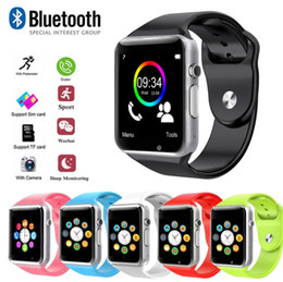 Discount bluetooth remote mobiles - Sport Waterproof A1 Smart Watch Bluetooth GSM Sim Phone Camera For Android iOS SIM Intelligent mobile phone Sleep State