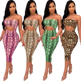 $enCountryForm.capitalKeyWord NZ - 4 Colour 2019 Women's Clothes Printing Sexy Undergarment Covering The Chest And Abdomen Dress Female Hl3209.to