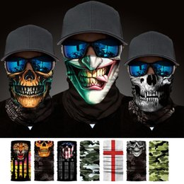 men face scarf mask Australia - 1PC Multi-color Magic Bandana Women Men Printed Anti-UV Face Mask Neck Cover Summer Multifunctional Scarf Cycling Accessories