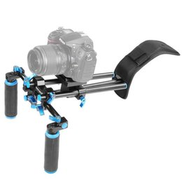 $enCountryForm.capitalKeyWord Australia - Freeshipping DSLR Shoulder Mount Support Rig with Camera Camcorder Mount Slider Shoulder Double-hand Handgrip C-shape For Canon Nikon