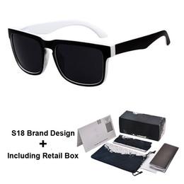 Black Blocks Australia - Brand Designer Spied KEN BLOCK Sunglasses Helm 18 Colors Fashion Men Square Frame Brazil Hot Rays Male Driving Sun Glasses Shades Eyewear