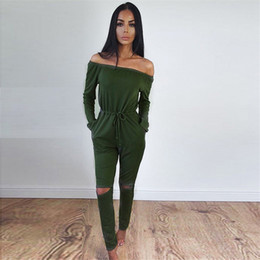 fashion jumpsuits for women Australia - Jumpsuits For Women Sexy Summer New Arrival High Street Style Elegant Long Sleeve Slash-Neck Off Shoulder Jumpsuit Rompers