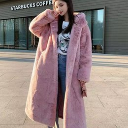 short mink fur NZ - Faux Fur Coat Women 2019 Casual Hoodies Furry Thick Warm Long Faux Mink Fur Jacket Loose Winter Coat Women casaco feminino T191126