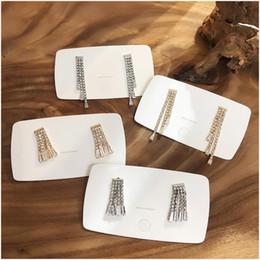 $enCountryForm.capitalKeyWord Australia - Korea Earrings Crystal Gold Silver Zircon Chain Tassel Earrings Fashion Women's 2019 Irregular Metal Ear Rings Jewelry