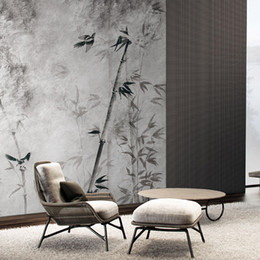 modern chinese wall decorations 2019 - MASAR new Chinese style design mural high-end residence decoration wallpaper living room wall wallpaper bamboo forest di