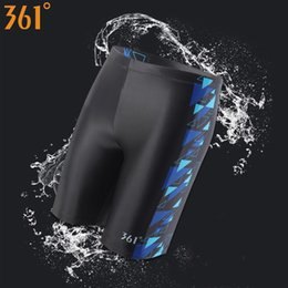 Wholesale swimwear boys swim trunks online – 361 Chlorine Resistant Swimwear for Men Long Swimming Trunks Professional Men Swimwear Athletic Tight Swim Shorts Boys