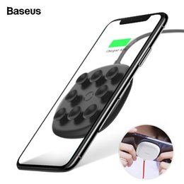 pads suction cups NZ - Baseus Suction Cup Qi Charger Iphone Xs Max Xr X 8 Plus 10w Fast Wirless Wireless Charging Pad For Samsung S9 S8 S7 J190427