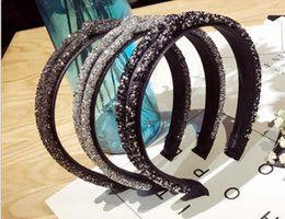 Discount diamond hair design - New Fashion Rhinestone Crystal Cross Hair Bands Unique Design Wide Hairband Headbands for Women Girl Shiny Hoop Hair Acc