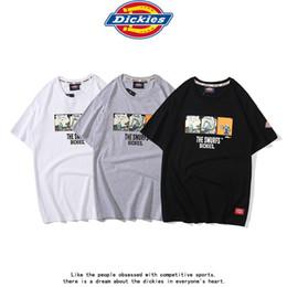 White undershirts online shopping - Cartoon couple T shirt American cargo short sleeve popular logo men s cotton undershirt color grey black and white size M L XL XXL