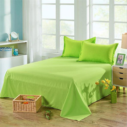 Discount cotton bedsheet wholesaler - 2018 new candy color High Quality 1-Piece Bed Sheet Solid Color Flat Sheet High-grade Bedsheet 13 Different Colors Bedcl