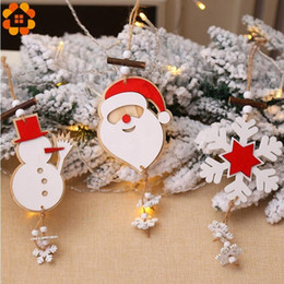 $enCountryForm.capitalKeyWord Australia - 1PC Wooden Christmas Santa Claus Ornaments Pendants Hanging DIY Wood Crafts Xmas Tree Ornaments Home Christmas Party Decoration