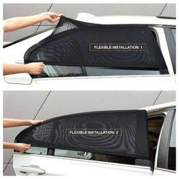 Mesh Fiber Australia - 2 x Car Rear Side Window Sun Visor Shade Mesh Cover Shield Sunshade UV Protector Free Shipping