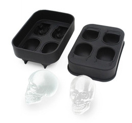 $enCountryForm.capitalKeyWord UK - Hot Sale Large Ice Cube Tray Pudding Mold 3D Skull Silicone Mold 4-Cavity DIY Ice Maker Household Use Kitchen Accessories