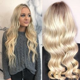 Filipino Straight Hair Australia - Filipino Hair Straight Body Wave Lace Front Wig Full Lace Human Hair Wigs 150 Density With Baby Hair Pre-plucked Hairline 613 Blonde