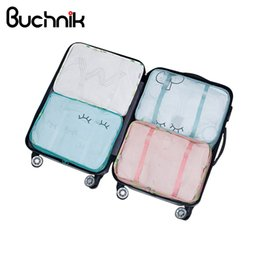 Clear Bag Clothes Australia - BUCHNIK Folding Travel Bag Packing Cube Portable Waterproof Clothes Pouch Large Capacity Luggage Organizer Trip Accessories