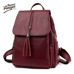 Discount phone angels - uggage Bags Backpacks Angel Voices brand fashion women backpack high quality genuine leather school bags female serpenti