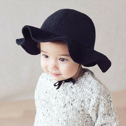 toddler boys sun hats UK - 2018 Toddler Kids Sun Cap Summer Outdoor Baby Girl Boy Beach Cotton Hat Wide Brim Hat