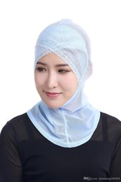 lace hijab caps Australia - HOT New Beautiful Muslim Lace Trim Mesh Hijabs Muslim Arabic Hijab Casual Wear Arab Scarf Cap Shawl