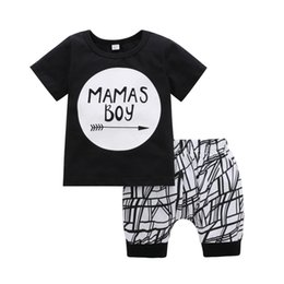baby girl summer suits UK - fashion summer cotton newborn kids clothing children baby girls short sleeve shorts suits toddler infant boys t-shirts pants two-piece sets