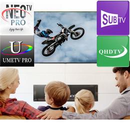 Ingrosso 1 una di abbonamento aux programmi de Television Europa Les programmi américains utilisent pour la boîte de télévision Android M3U