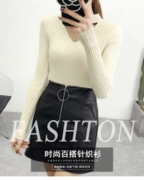 Wholesale cut out pullover sweater for sale - Group buy Heart spun half high neck sweater women s new fall winter Pullover T shirt bottom cut out
