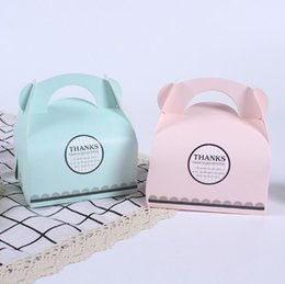 $enCountryForm.capitalKeyWord UK - Portable Handle Bakery Cake Boxes Mousse Cookies Pastry Packaging Boxes Pinkk Blue Free Shipping Wholesale LX5694